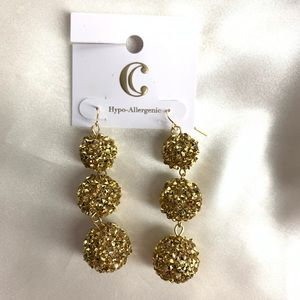 NEW‼️Charming Charlie gold ball earrings